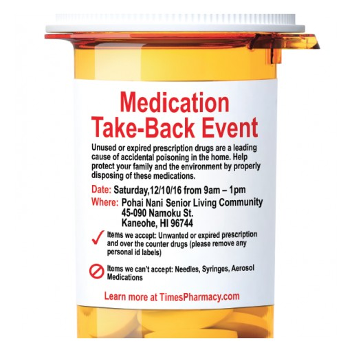 Times Pharmacy Sponsors Medication Take-Back Event