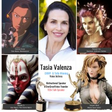 EMMY & Telly award-winning voice actress Tasia Valenza shares insights on harnessing the power of tone and intent in her newly launched #GiveGreatVoice TEDx Talk
