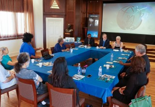 Drug prevention meeting at the Church of Scientology
