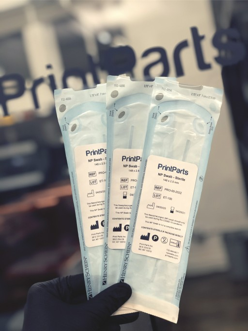 Print Parts Inc. Announces Delivery of Over One Million 3D-Printed Nasopharyngeal Swabs to Support NYC COVID-19 Testing