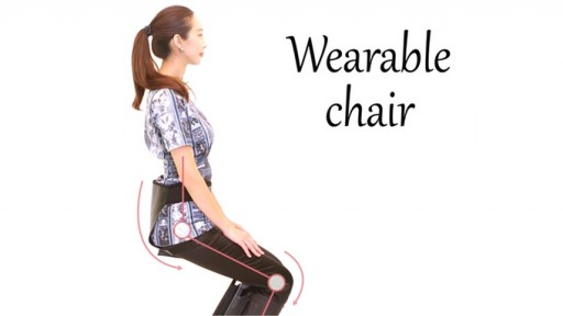 The Wearable Chair - the Affordable Chair That Allows Anyone to Sit Anywhere for Instant Leg, Joint, and Hip Relief.