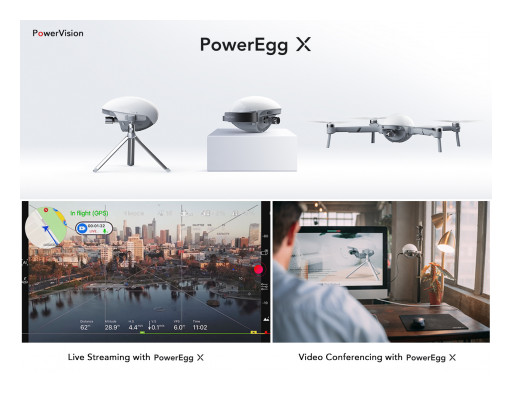 PowerVision Unveils New Livestream, Video Conferencing Capabilities for Poweregg X Drone
