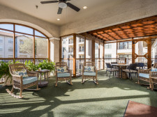 Newly Renovated, Enclosed Patio Area at Conservatory At Plano