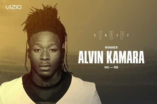 Star Running Back Alvin Kamara Clinches 2017  VIZIO Top Value Performer Honors