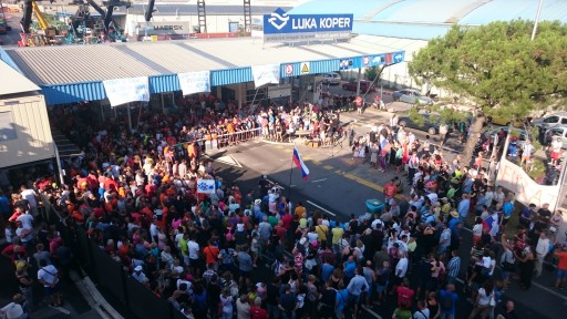 """We Will Not Give Away Our Port"" - a Spontaneous Rally at the Port of Koper"
