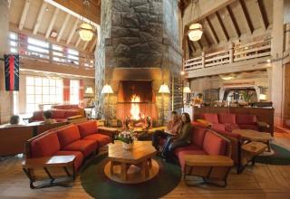 Fireplace at Timberline Lodge on Oregon's Mt. Hood