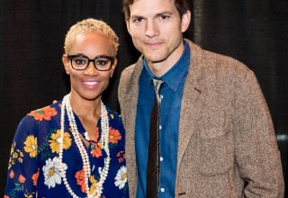 Dr. Bello and Ashton Kutcher, actor and founder of Thorn