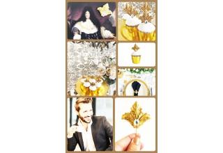 Louis XIV cupcake topper