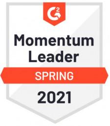 G2.com Momentum Leader Spring 2021 Badge