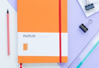 PAIPUR Color Series Orange Notebook