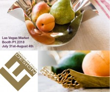 New Stainless Steel Home Decor and Serveware Debuts at Las Vegas Market by Elleffe Design North America