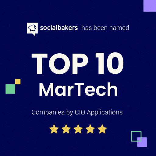 Socialbakers Named in the Top 10 MarTech Companies by CIO Applications