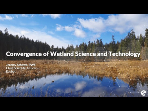 Webinar: Convergence of Technology and Wetland Science: Series Overview