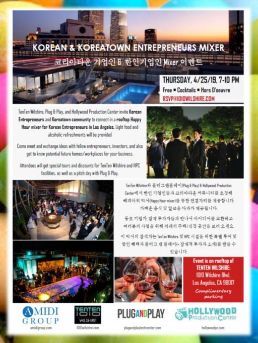 TenTen Wilshire Hosts a Happy Hour Mixer for Korean Entrepreneurs and Koreatown Community Business Leaders