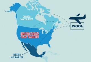 Tariff map/graphic