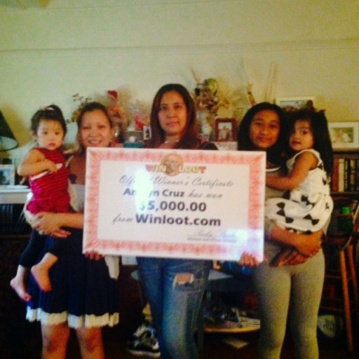 L.A. Woman Wins $5,000 Instantly at Winloot.com Sweepstakes