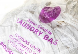 Water soluble laundry bag made from Aquapak polymer