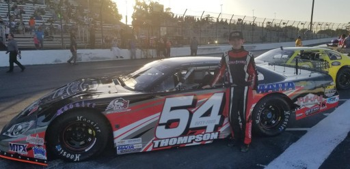 Alabama's Grant Thompson Finishes Sixth in Madera Speedway Championship Night Race