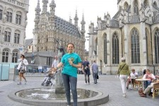 Foundation for a Drug-Free World volunteer in the historic town of Leuven, Belgium