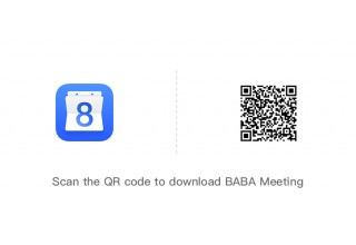 scan the QR code to download BABA Meeting