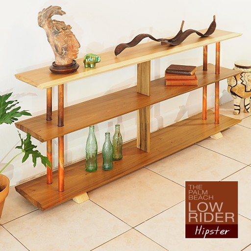 Introducing, the Mid Century Inspired PALM BEACH LOW RIDER Bookcase