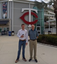 Dr. George K Lewis, President, ZetrOZ Systems, and Mr. Robert Butler, Controller, ZetrOZ Systems, at Minnesota Twins Spring Training 2020. sam ultrasound is broadly adopted by professional and collegiate athletics.
