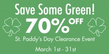 St. Paddy's Paddy'O Furniture Sales Event