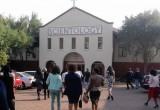Guests arrive at the Church of Scientology Pretoria for the seminar on The Way to Happiness.