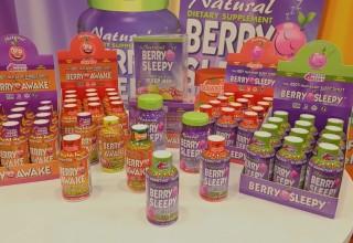 Berry Sleepy and Berry Awake natural sleep aids and energy shots