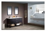 Modern bathroom vanities in espresso