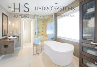 Hydro Systems 40th Anniversary Logo with Anaha Freestanding Bathtub
