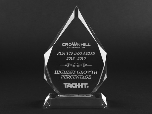 Crownhill Packaging Awarded Tach-It® Top Dog Award - Highest Growth Percentage