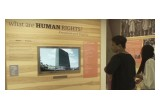 United for Human Rights audiovisual materials are featured in the exhibit.