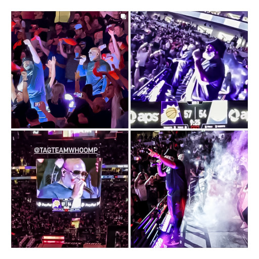 Tag Team Energizes Halftime at the 2021 NBA Western Conference Finals