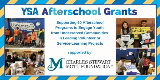 Youth Service America Awards Grants to Help Afterschool Programs Engage Young People in Volunteering and Service