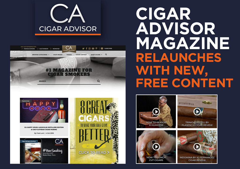 Cigar Advisor Magazine Relaunches With New Free Content