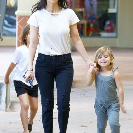 Kourtney Kardashian and Family Spotted at Kids World LA