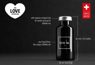 SKIN46 THE LOVE TATTOO INK - BOTTLE DETAILS