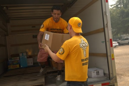 Scientology Volunteers Continue to Serve at NorCal Fire Sites