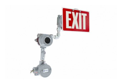Larson Electronics Releases Explosion-Proof Exit Sign, IP65, 120V/277V AC, CI/D1&2