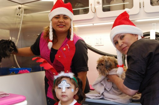 Hollywood Mobile Grooming's 'SANTA PAWS' for the Homeless is Saturday, Dec. 15