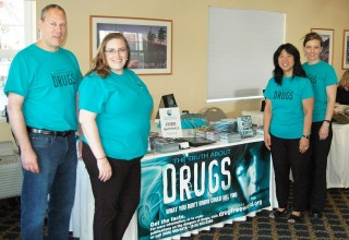 Volunteers from the Seattle chapter of Foundation for a Drug-Free World