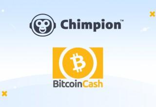 Chimpion and Bitcoin Cash Logos
