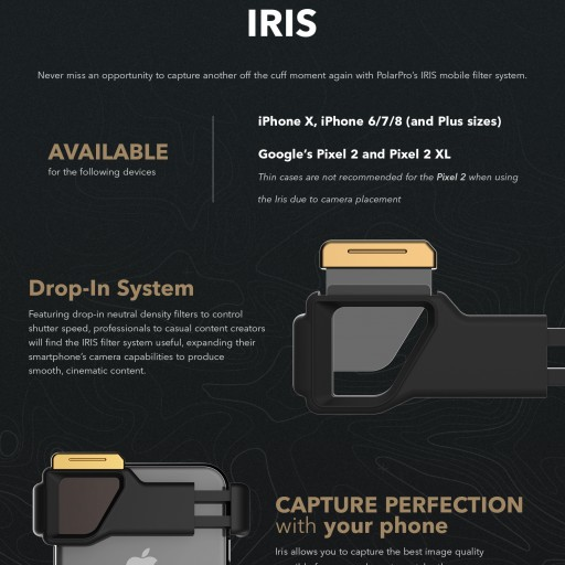 PolarPro's New IRIS Mobile Filter System Lets You Capture Stunning Cinematic Content With Your iPhone X or Pixel 2