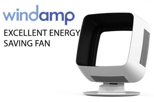 Amplify the Living Room With Windamp's Valley Wind Technology Powered Bladeless Fan