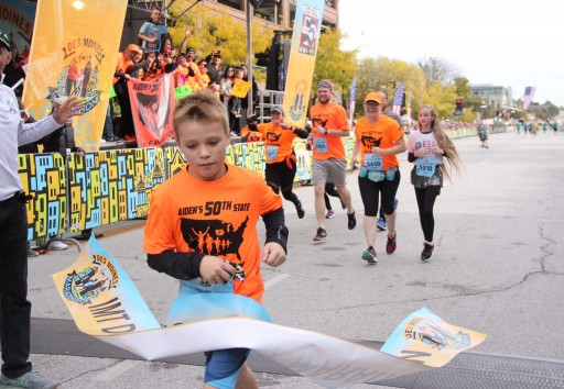 11 Year Old Breaks World Record - Finishes the 50 States Half Marathon Challenge™