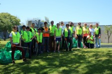 Scientologists in San Jose take part in the city's Earth Day cleanup