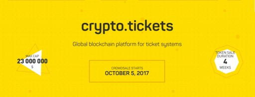 Tickets Cloud Announces the ICO of crypto.tickets