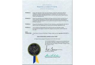 Oregon's First Responder Appreciation Week Proclamation