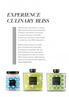 SoKO CBD infused culinary cooking oils
